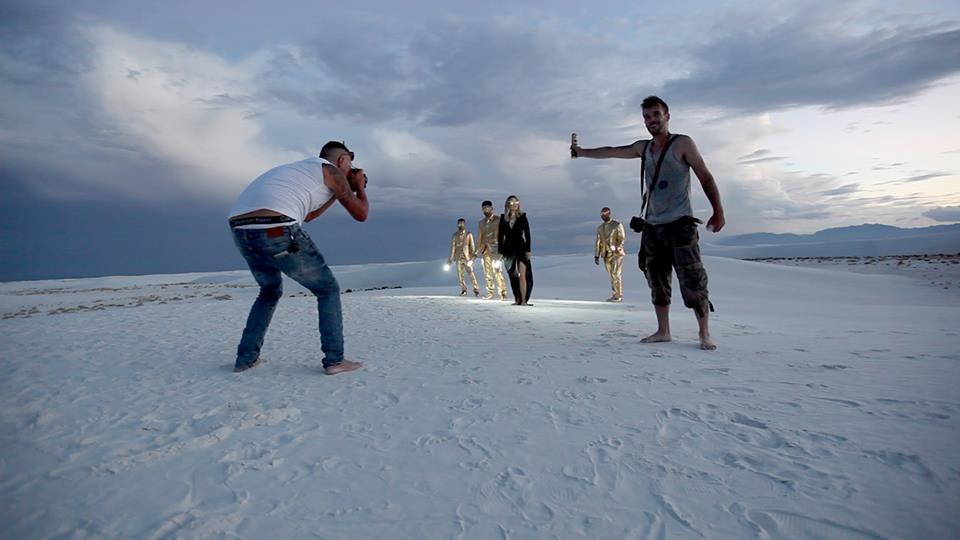 P34K au Nouveau Mexique en tournage avec les Lost Fingers